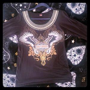 Harley-Davidson 3/4 shirt, size medium gently used